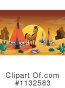 Royalty-Free (RF) Tipi Clipart Illustration #1132583