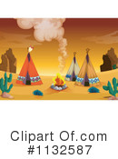 Royalty-Free (RF) Tipi Clipart Illustration #1132587