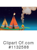 Royalty-Free (RF) Tipi Clipart Illustration #1132588