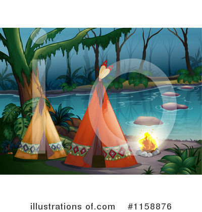 Royalty-Free (RF) Tipi Clipart Illustration by Graphics RF - Stock Sample #1158876