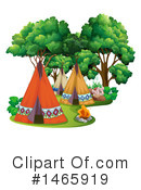 Royalty-Free (RF) Tipi Clipart Illustration #1465919