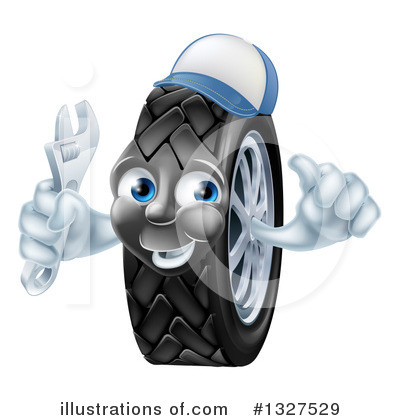 Tire Clipart #1327529 by AtStockIllustration