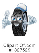 Tire Character Clipart #1327529