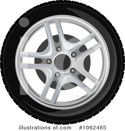 Tire Clipart #1062465 by Vector Tradition SM
