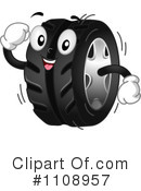 Royalty-Free (RF) Tire Clipart Illustration #1108957