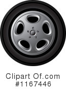 Royalty-Free (RF) tire Clipart Illustration #1167446