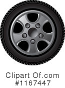 Royalty-Free (RF) tire Clipart Illustration #1167447