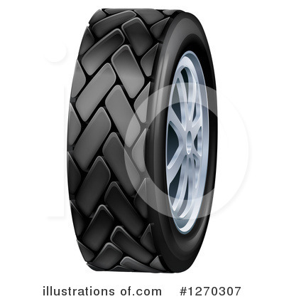 Tire Clipart #1270307 by AtStockIllustration