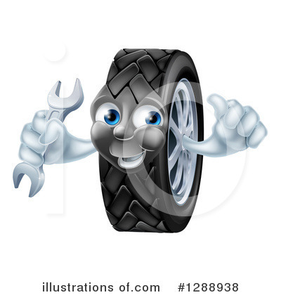 Tire Clipart #1288938 by AtStockIllustration