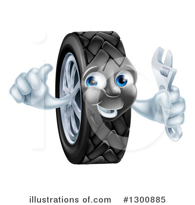 Tire Clipart #1300885 by AtStockIllustration
