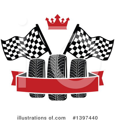 Tire Clipart #1397440 by Vector Tradition SM