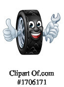 Tire Clipart #1706171 by AtStockIllustration