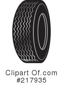 Royalty-Free (RF) tire Clipart Illustration #217935