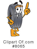 Royalty-Free (RF) tire Clipart Illustration #8065