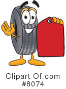 Royalty-Free (RF) tire Clipart Illustration #8074