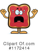 Royalty-Free (RF) Toast And Jam Clipart Illustration #1172414