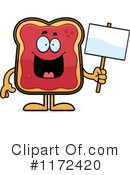 Royalty-Free (RF) Toast And Jam Clipart Illustration #1172420