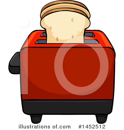 Royalty-Free (RF) Toaster Clipart Illustration by Graphics RF - Stock Sample #1452512