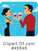 Royalty-Free (RF) Toasting Clipart Illustration #45846