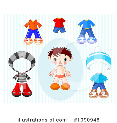 Paper Doll Clipart #1090946 by Pushkin