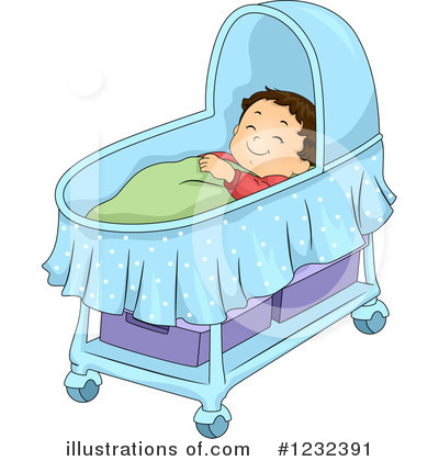 Crib Clipart #1232391 by BNP Design Studio