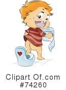 Royalty-Free (RF) Toilet Clipart Illustration #74260