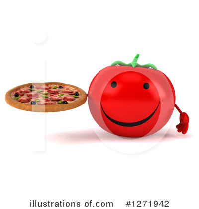 Tomato Character Clipart #1271942 by Julos