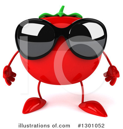 Tomato Character Clipart #1301052 by Julos