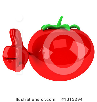 Tomato Character Clipart #1313294 by Julos