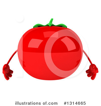 Tomato Character Clipart #1314665 by Julos