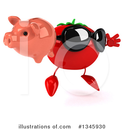 Tomato Character Clipart #1345930 by Julos