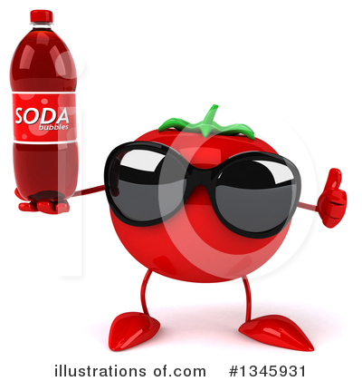Tomato Character Clipart #1345931 by Julos
