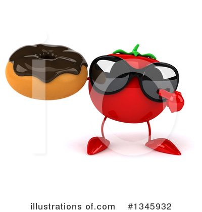 Tomato Character Clipart #1345932 by Julos