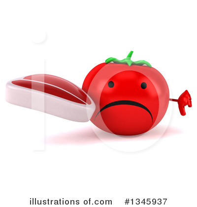 Tomato Character Clipart #1345937 by Julos
