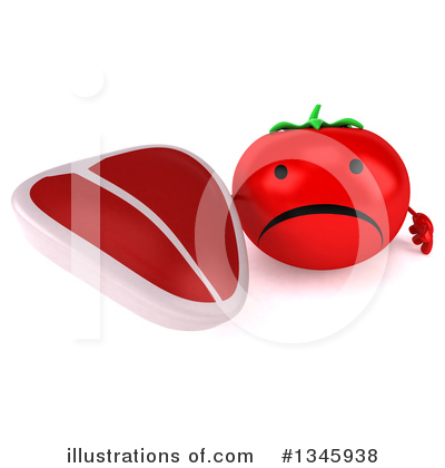 Tomato Character Clipart #1345938 by Julos