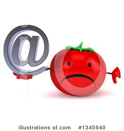 Tomato Character Clipart #1345940 by Julos