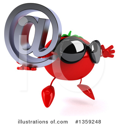 Tomato Character Clipart #1359248 by Julos