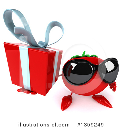 Tomato Character Clipart #1359249 by Julos