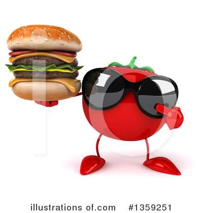 Tomato Character Clipart #1359251 by Julos