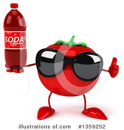 Tomato Character Clipart #1359252 by Julos