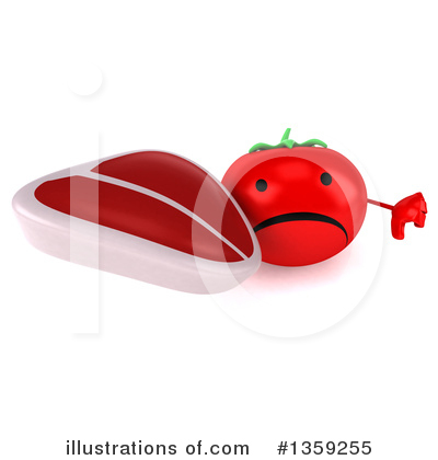 Tomato Character Clipart #1359255 by Julos