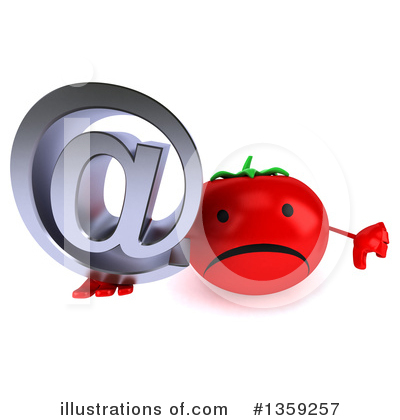 Tomato Character Clipart #1359257 by Julos