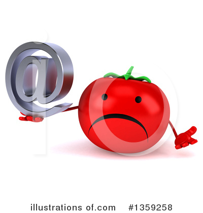Tomato Character Clipart #1359258 by Julos