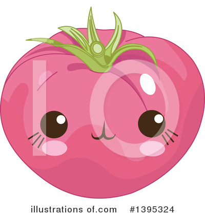 Royalty-Free (RF) Tomato Clipart Illustration by Pushkin - Stock Sample #1395324