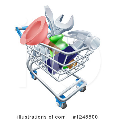 Shopping Cart Clipart #1245500 by AtStockIllustration