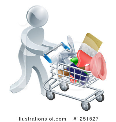 Shopping Cart Clipart #1251527 by AtStockIllustration