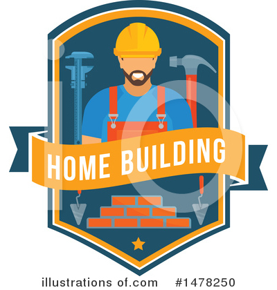 Builder Clipart #1478250 by Vector Tradition SM
