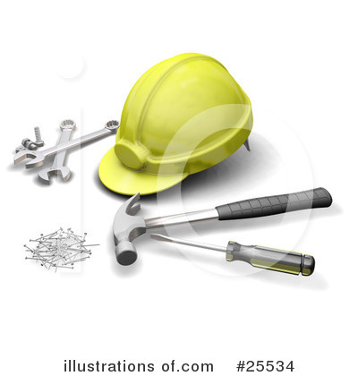 Royalty-Free (RF) Tools Clipart Illustration by KJ Pargeter - Stock Sample #25534