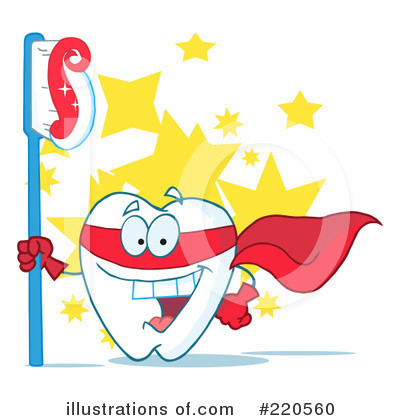 Tooth Character Clipart #220560 by Hit Toon