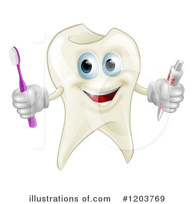Royalty-Free (RF) Tooth Clipart Illustration by AtStockIllustration - Stock Sample #1203769